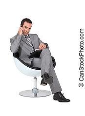 cadeira, confortável