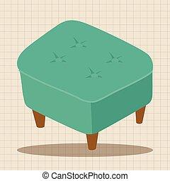 cadeira, elementos, tema