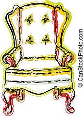 cadeira, ilustração