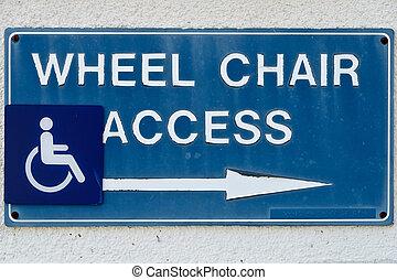 cadeira margarida, acesso, sinal