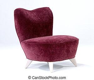 cadeira, modernos, meio, século