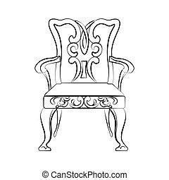 cadeira, real, clássicas