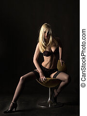 cadeira, sentando