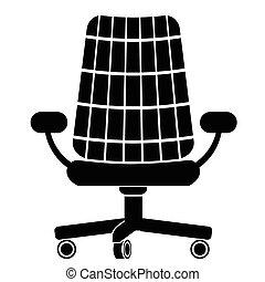 cadeira, silueta