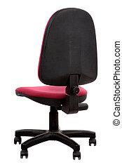cadeira vermelha, de, escritório