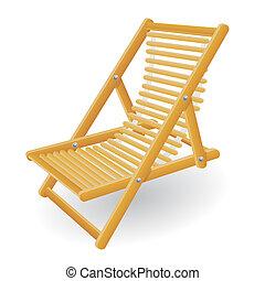 cadeira, vetorial, praia, ilustração