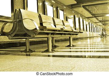 cadeiras, área espera