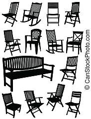 cadeiras, ben, jardim, cobrança