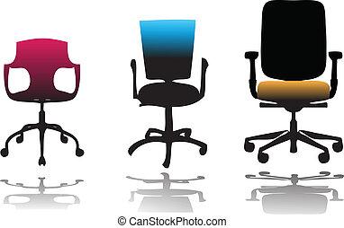 cadeiras, escritório