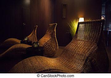 cadeiras, spa, relaxe
