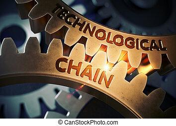 cadena,  3D, tecnológico