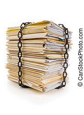 cadena, archivo, pila