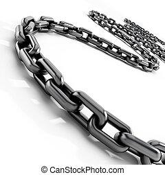 cadena, blanco, plano de fondo