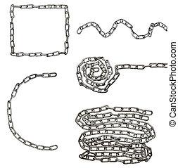 cadena, conexión, esclavitud, fuerza, enlace