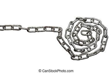 cadena, conexión, esclavitud, fuerza, l