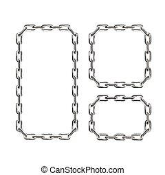cadena de plata, frames., vector