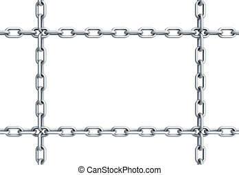 cadena, en forma, de, rectángulo