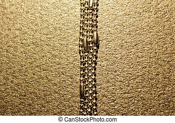 cadena, en, un, fondo negro