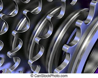 cadena, engranajes