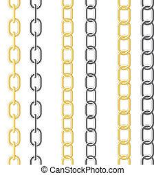cadena, metálico