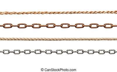 cadena, soga, conexión, esclavitud, strenght, enlace