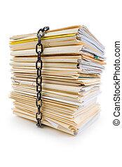 cadena, y, archivo, pila
