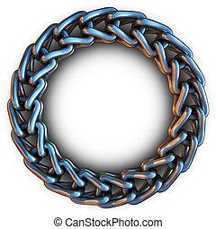 cadenametálica, en un anillo