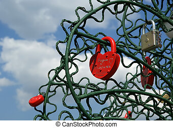 coeur amour union ternel symbole forme cadenas. Black Bedroom Furniture Sets. Home Design Ideas