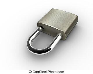cadenas, ouvert