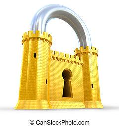 cadenas, puissant, forteresse