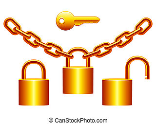 cadenas, set.