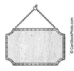 cadenas,  signboard,  metal, aislado