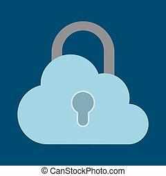 cadenas, système, conception, cyber, nuage, sécurité