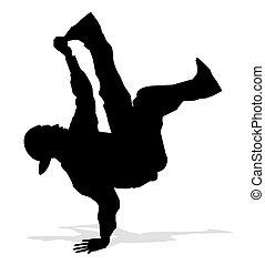 cadera, bailarín, salto