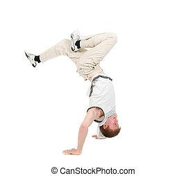 cadera, breakdance, salto, dancer.