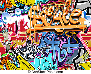 cadera, urbano, arte, seamless, textura, wall., fondo.,...
