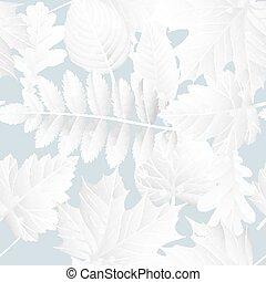 cadere, inverno, manifesto, con, foglie, fondo., eps, 10