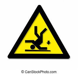 Cadere, pericolo, segno