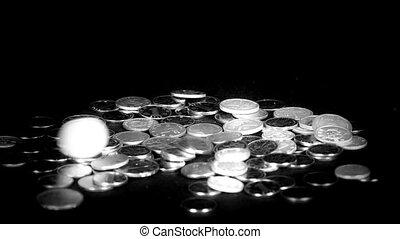 cadere, rmb, monete., moneta