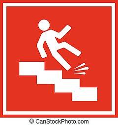 cadere, segno, pericolo