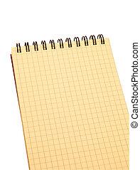 caderno, amarela