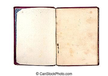 caderno, antigas