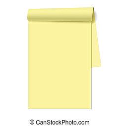 caderno, notepad, em branco