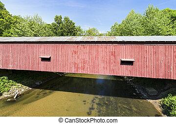 Cades Mill Covered Bridge Over Coal Creek