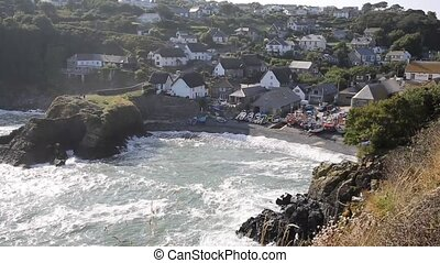 Cadgwith Cornwall England UK on the Lizard Peninsula between...