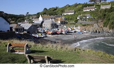 Cadgwith harbour Cornwall UK - Cadgwith Cornwall England UK...