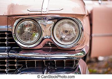 Cadillac - headlights of a Cadillac