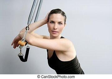Cadillac trapeze pilates woman portrait fitness sport