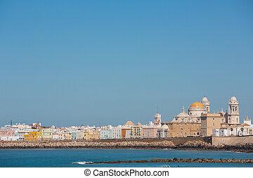 Cadiz and ocean