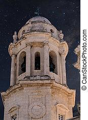 Cadiz Bell Tower at Night